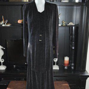 Cache Black Jumpsuit with Blazer